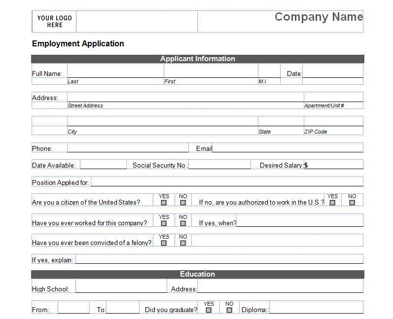 Free Basic Job Application