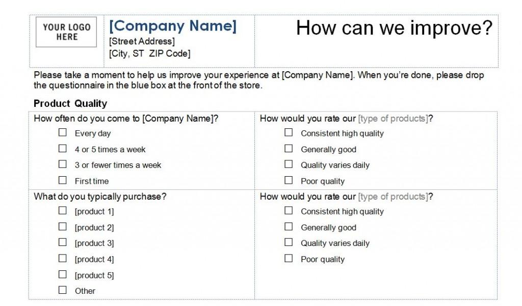 Free Customer Service Survey Template