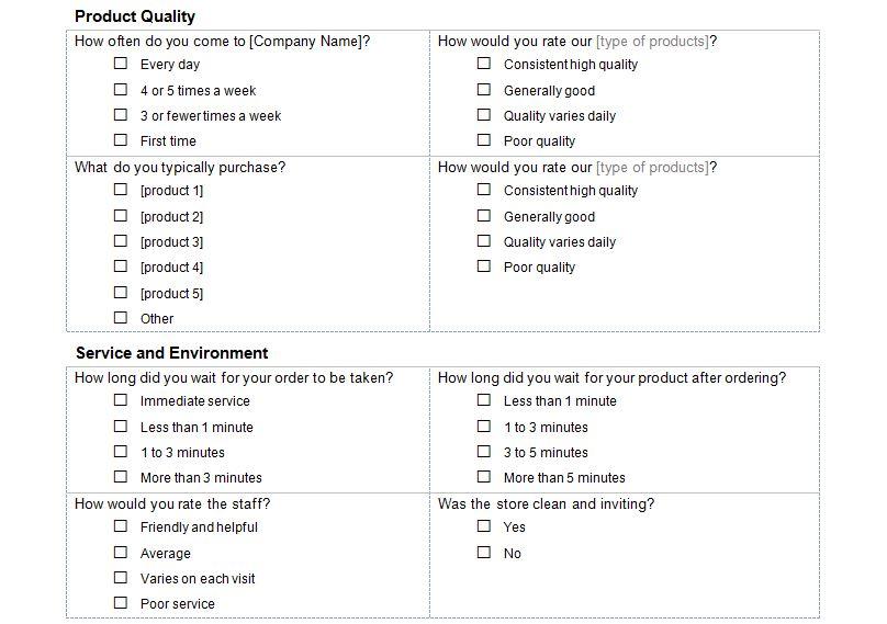 Free Customer Service Survey