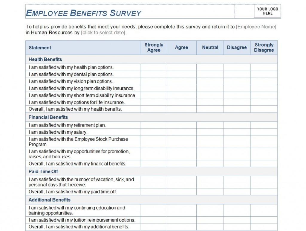 Free Employee Benefits Survey