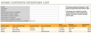Free Household Inventory