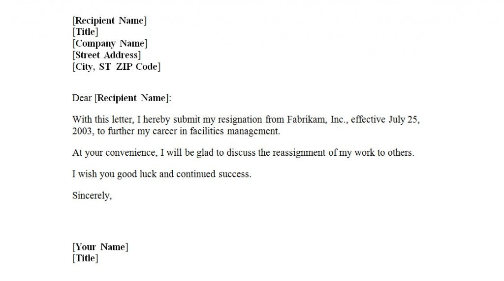 Resignation Letter Forced To Resign from exceltemplates.net