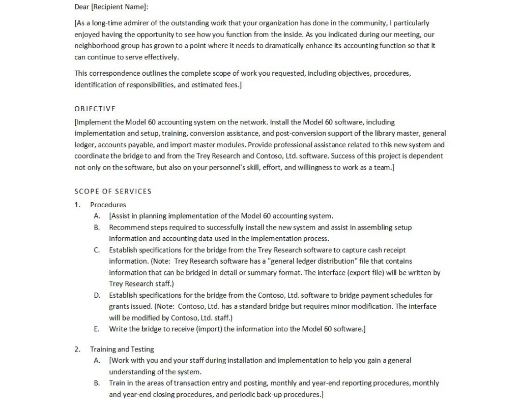 Proposal Letter Template Free