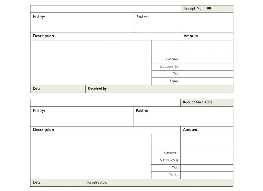 Rent Receipt PDF | Rent Receipts PDF Template