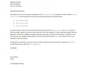 Free Sample Employee Termination Letter