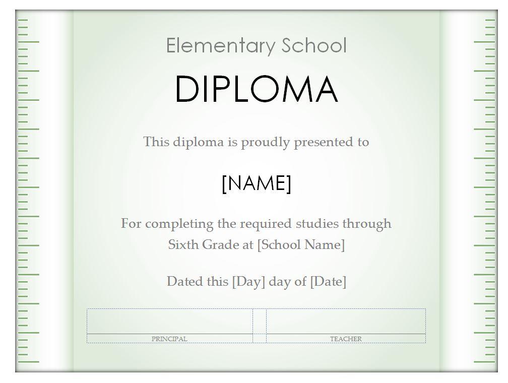 Free Homeschool Diploma Template