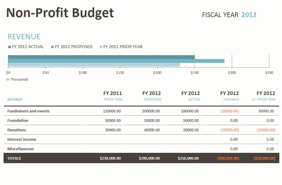 Free Nonprofit Budget Excel Template