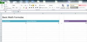 Math Formulas in Excel