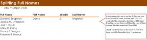 Split Full Names in Excel