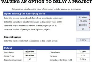 Delay a Project Template