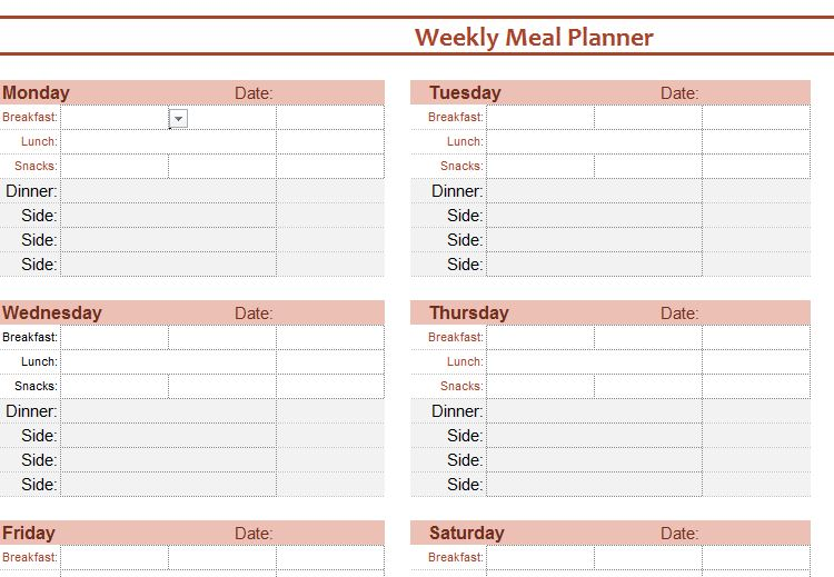 Meal Planner Book