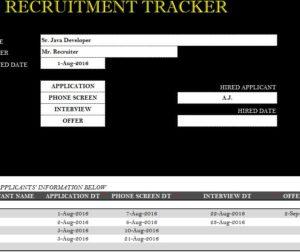 Recruitment Tracker Sheet