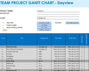 Team Project GANTT Chart